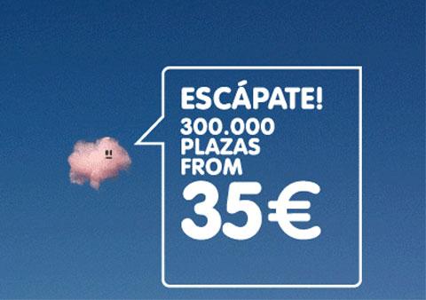 Plazas a 35 euros vuelos baratos info for Emprunter 300 000 euros